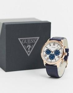 Часы-браслет с синим циферблатом Guess-Серебристый