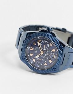 Часы с синим ремешком Guess-Голубой