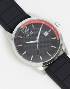 Черные часы с черным циферблатом Guess-Черный