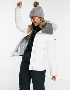 Белая лыжная куртка Roxy Clouded-Белый