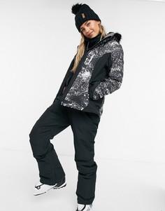 Лыжная куртка черного цвета Roxy Jet Premium-Черный