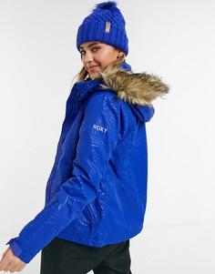 Лыжная куртка синего цвета Roxy Jet Solid-Голубой