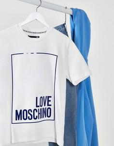 Футболка с логотипом Love Moschino-Белый