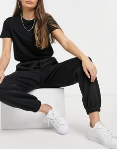 """Черные oversized-джоггеры с манжетами adidas Originals """"Cozy Comfort""""-Черный"""