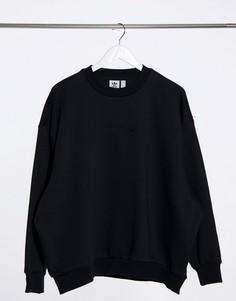 Черный oversized-свитшот adidas Originals Cosy Comfort