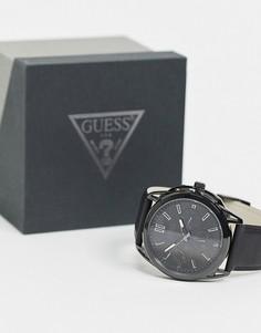 Часы с черным циферблатом Guess-Черный