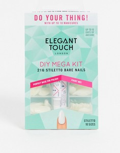 Набор с накладными ногтями и клеем Elegant Touch Totally Bare Stiletto-Бесцветный