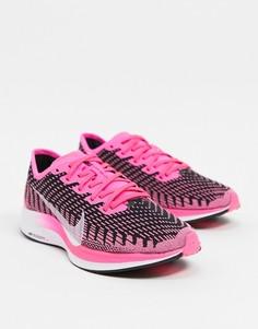 Черно-розовые кроссовки Nike Running Pegasus Turbo-Черный