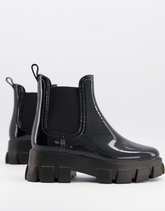 Черные непромокаемые ботинки-челси на массивной подошве ASOS DESIGN Giana-Черный
