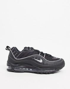 Черно-серебристые кроссовки Nike Air Max 98-Черный