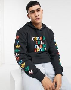 """Худи черного цвета с надписью """"Change is a team sport"""" adidas Originals-Черный"""