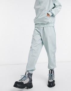 Oversized-джоггеры из нейлона серо-голубого цвета от комплекта ASOS DESIGN-Синий