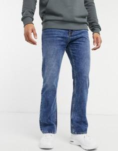 Расклешенные джинсы цвета индиго Bershka-Голубой
