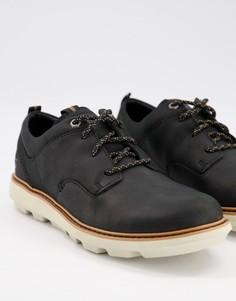Черные кожаные ботинки на шнуровке CAT Brusk-Черный Caterpillar