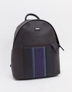 Черный рюкзак из искусственной кожи с синей полоской Ted Baker-Коричневый