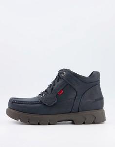 Темно-синие кожаные ботинки на шнуровке Kickers Lennon-Темно-синий