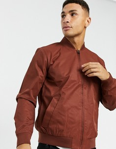 Куртка-бомбер кирпичного цвета Topman-Коричневый
