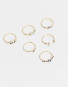 Золотистые кольца с разноцветными камнями ALDO Cristoval-Золотой