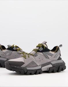 Черные кроссовки на массивной подошве CAT Raider-Черный Caterpillar