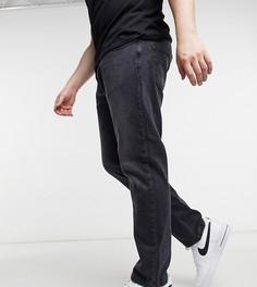 Зауженные джинсы стрейч черно-выбеленного цвета Duke-Черный