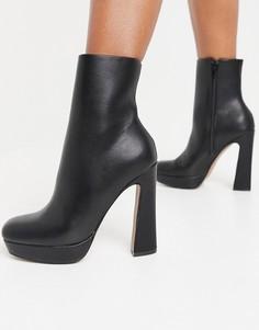 Черные ботинки на платформе ASOS DESIGN Eternal-Черный