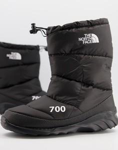 Черные ботинки The North Face Nuptse 700-Черный