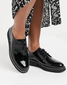 Черные броги со шнуровкой на массивной подошве Aldo-Черный