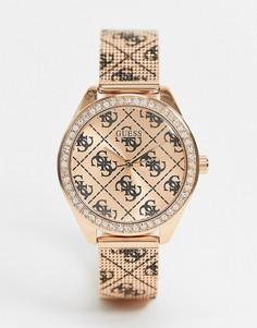 Часы с хронографом и розовым ремешком Guess-Розовый