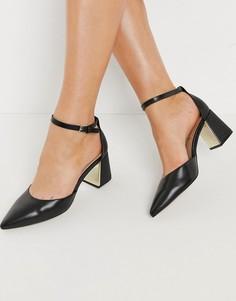 Черные туфли на блочном каблуке ALDO Gryma-Черный