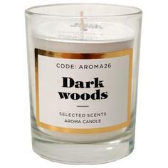 Свеча ароматическая «Dark wood» в стекле, цвет белый