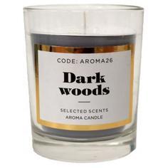 Свеча ароматическая «Dark wood» в стекле, цвет серый