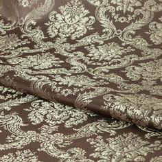 Ткань 1 м/п Классика портьера 150 см цвет коричневый