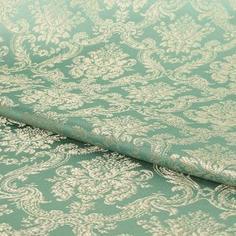Ткань 1 м/п Классика портьера 150 см цвет зеленый