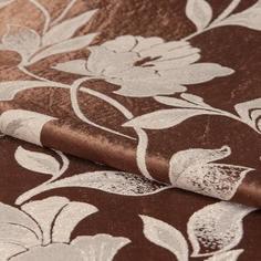 Ткань 1 м/п Пион портьера 280 см цвет коричневый