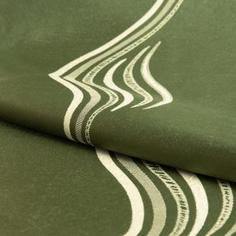 Ткань 1 м/п Волна портьера 280 см цвет зеленый