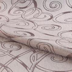 Ткань 1 м/п Абстракция портьера 280 см цвет розовый