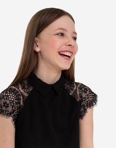 Чёрное прямое платье для девочки Gloria Jeans
