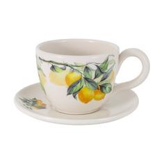 Чашка с блюдцем Julia Vysotskaya Лимоны 400 мл