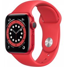 Смарт-часы Apple Watch Series 6 GPS 40 мм Red Sport Band M00A3RU/A