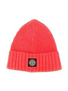Stone Island Junior шапка бини с нашивкой-логотипом