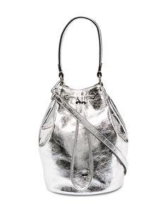 Karl Lagerfeld сумка-ведро K/Ikonik 3D с эффектом металлик