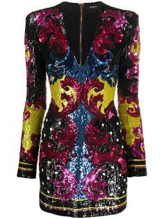 Balmain платье мини с вышивкой