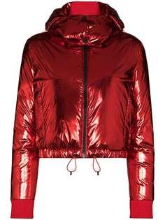 Perfect Moment лыжная куртка-пуховик с капюшоном и принтом