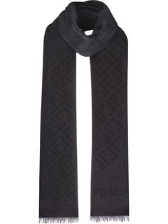 Fendi шарф с монограммой