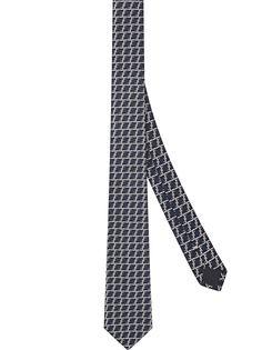 Fendi жаккардовый галстук с логотипом FF