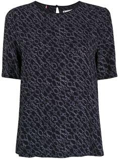 Tommy Hilfiger футболка с круглым вырезом и монограммой