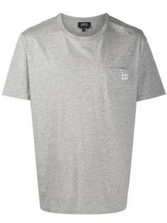 A.P.C. футболка с накладным карманом и логотипом