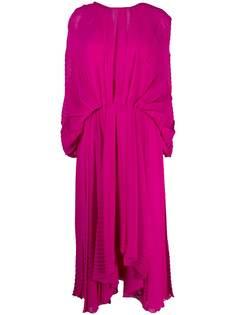MSGM платье асимметричного кроя с V-образным вырезом