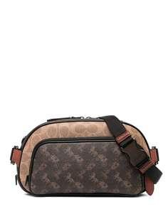 Coach поясная сумка Hitch с монограммой