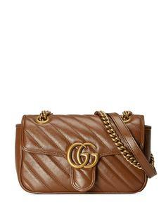 Gucci стеганая мини-сумка на плечо GG Marmont